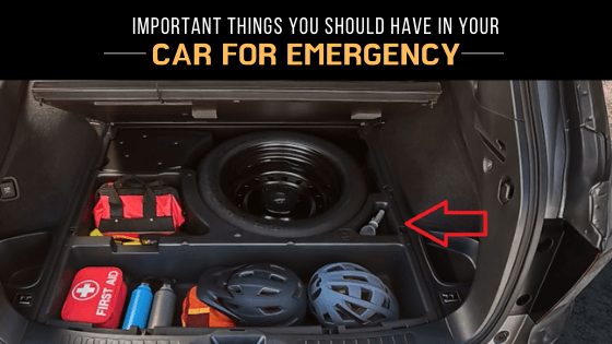 emergency items in car
